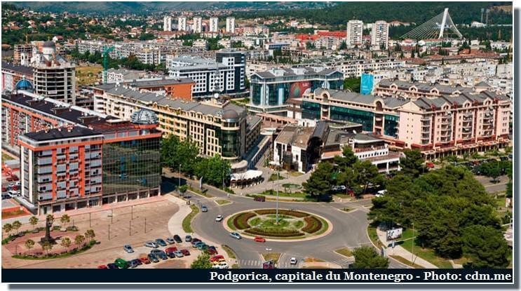 podgorica capitale du Montenegro