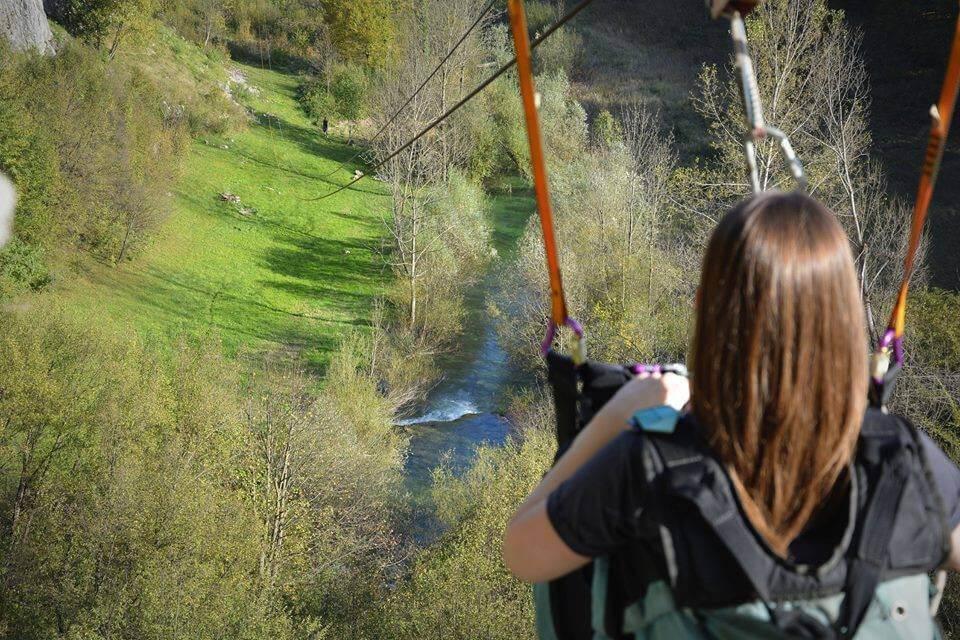 tyrolienne à plitvice adrenalin park