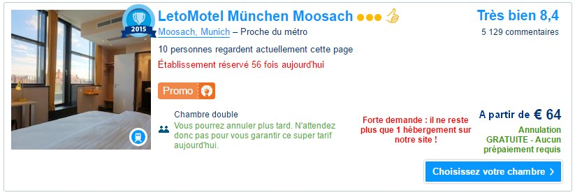 LetoMotel Muenchen Moosach