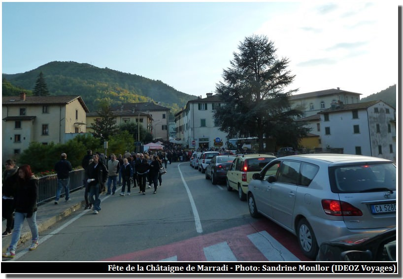 Marradi embouteillages lors de la sagra delle castegne