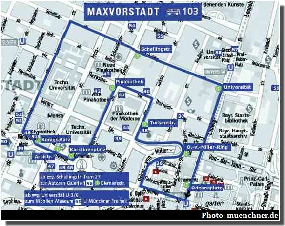 Maxvorstadt plan munich