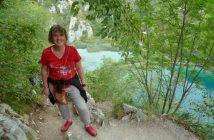 Sandrine Monllor dans le Parc de plitvice