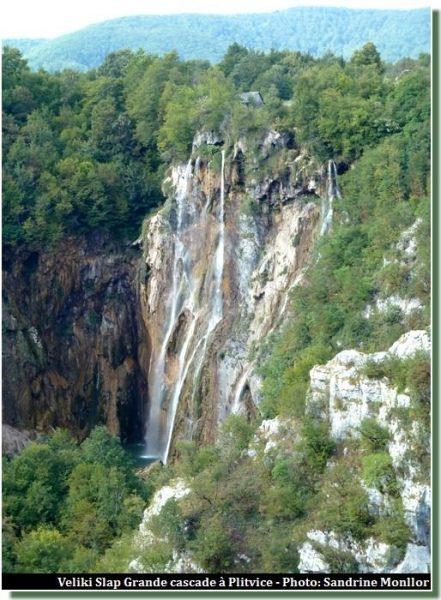 Veliki slap Grande chute Plitvice
