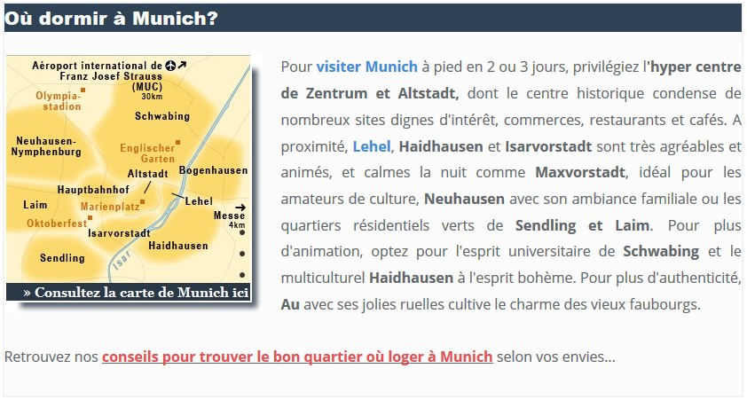 week end à munich quel quartier pour dormir?