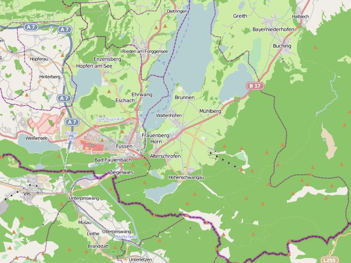 lacs dans le Scwangau