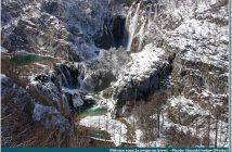 parc de plitvice en hiver