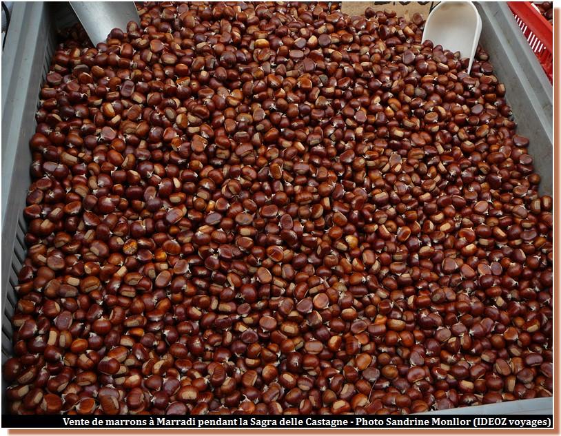vente de marrons à marradi pendant la sagra delle castagne