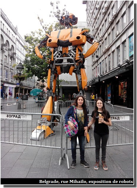 Belgrade knez mihailova robot geant