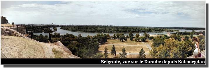 Belgrade vue sur le danube