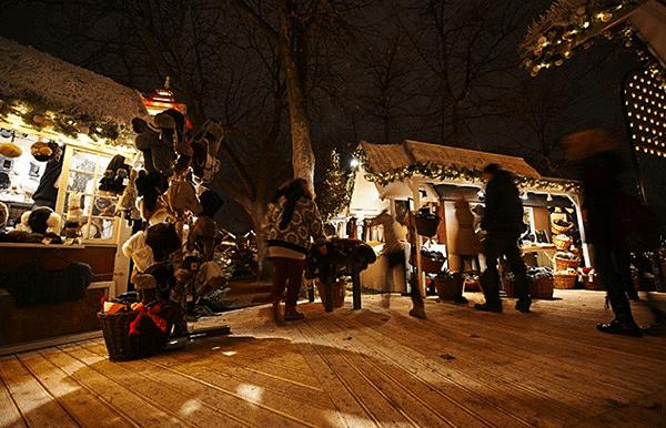 Copenhague marché de noel parc tivoli