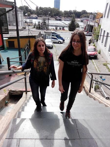 belgrade montée des escaliers