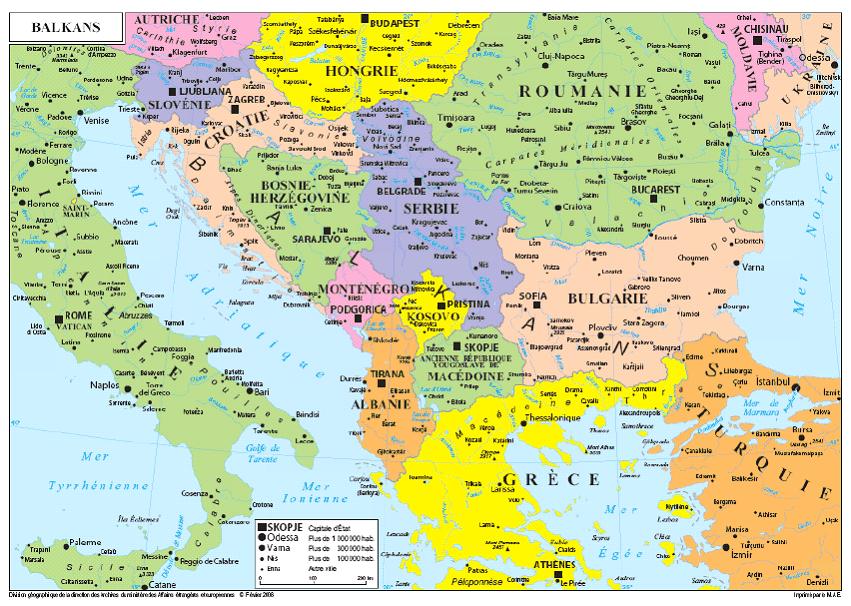 Carte Routière Balkans | tonaartsenfotografie