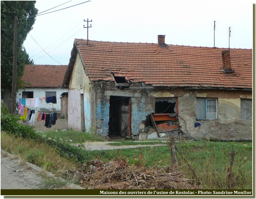 Kostolac usine maisons delabrees