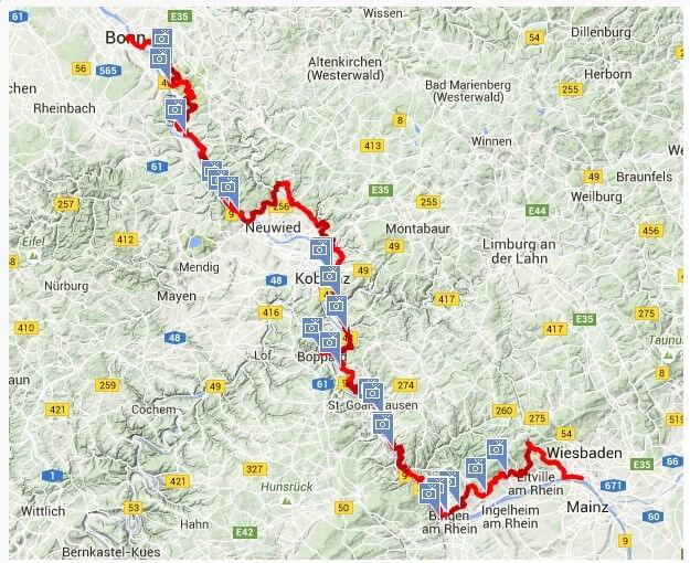 Sentier Rhin romantique en Allemagne