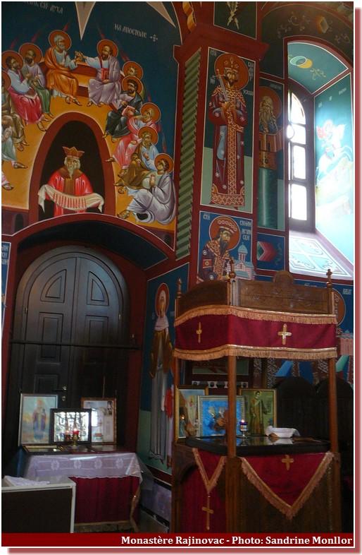 Intérieur du monastere Rajinovac