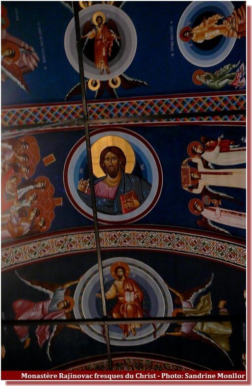 Monastère Rajinovac fresques du christ