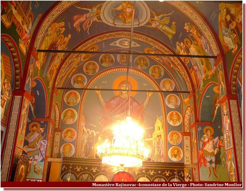 Monastère Rajinovac Fresque de la Vierge