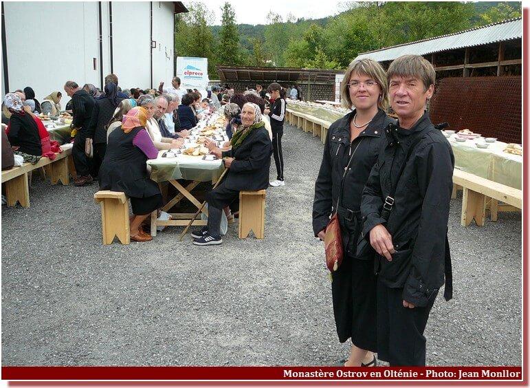 Repas du monastere Ostrov