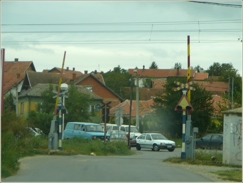 Route vers Rajinovac en serbie centrale