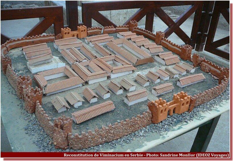 Viminacium reconstitution du complexe urbain en miniature