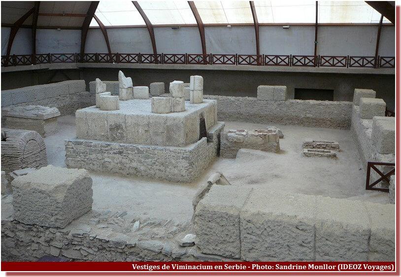 Viminacium vestiges site archeologique en serbie