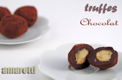 truffes au chocolat et aux amaretti