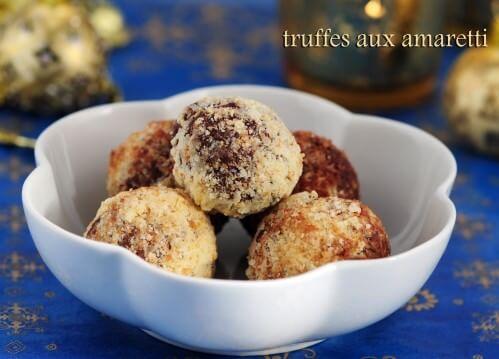truffes aux amaretti cuisine italienne