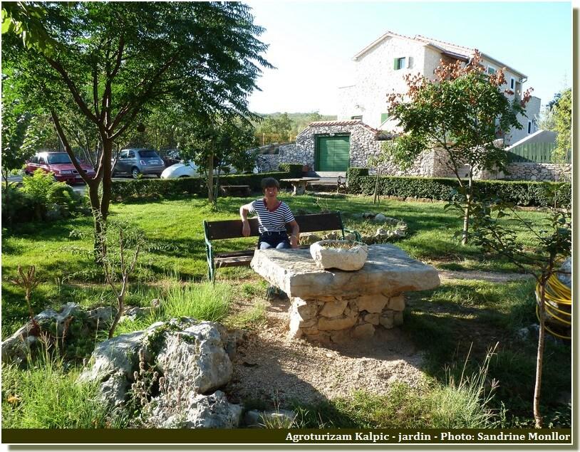 Jardin détente agrotourisme Kalpic