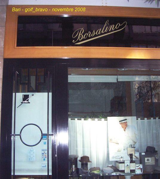 La boutique Borsalino de Bari