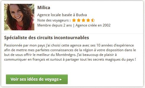 agence de voyage locale au montenegro : Milica