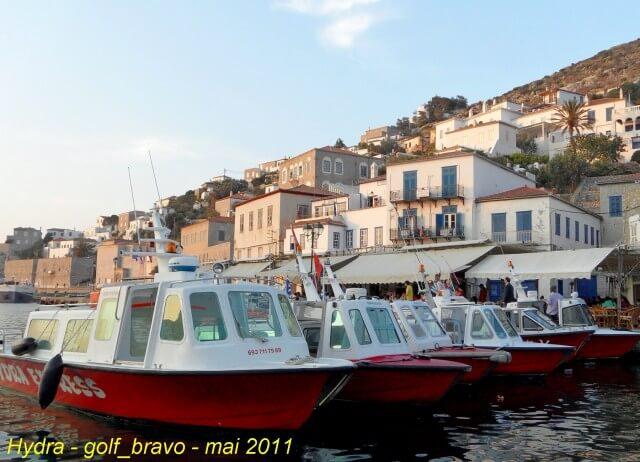 Hydra bateaux dans le port