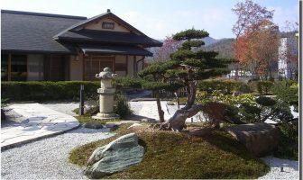 Jardin Maison de thé au Japon