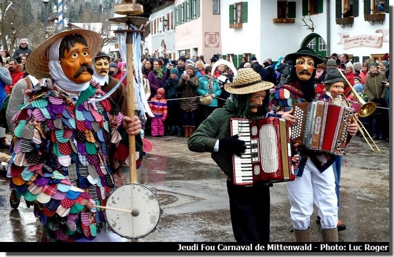 Jeudi fou carnaval Mittenwald en Baviere