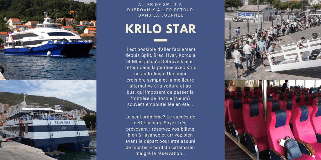 Krilo star aller de split jsqu'à dubrovnik en catamaran dans la journée