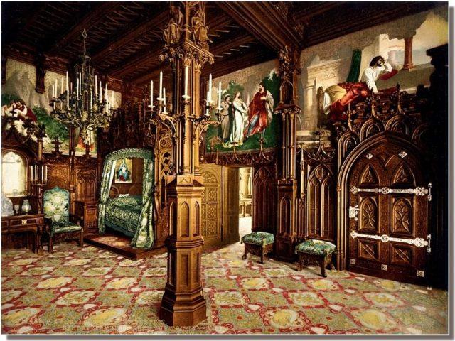 Chateau Neuschwanstein chambre à coucher