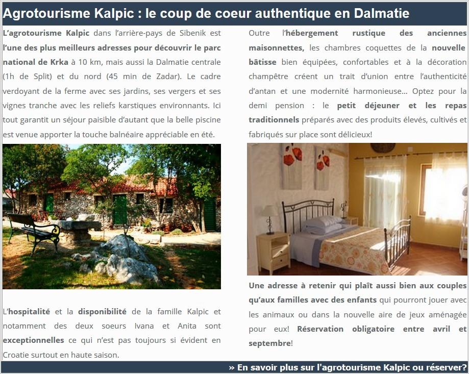 Krka agrotourisme Kalpic