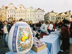 Marché de Prague à Paques