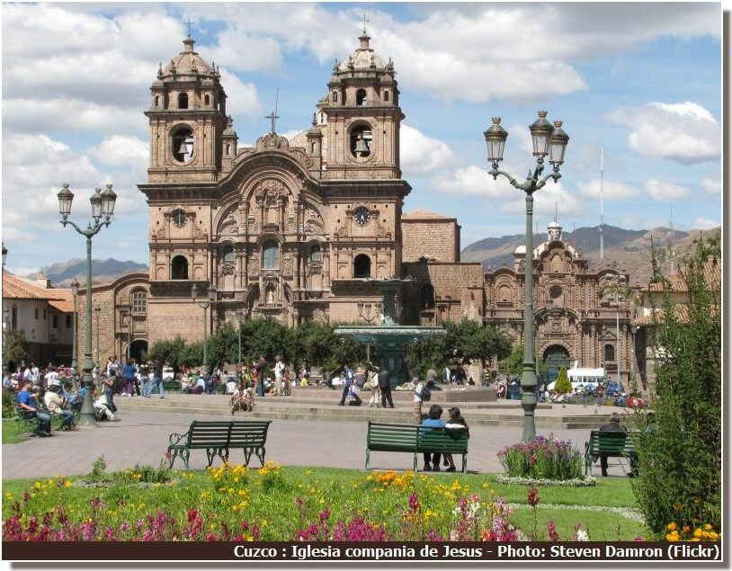 Cuzco Eglise de la compagnie de Jesus