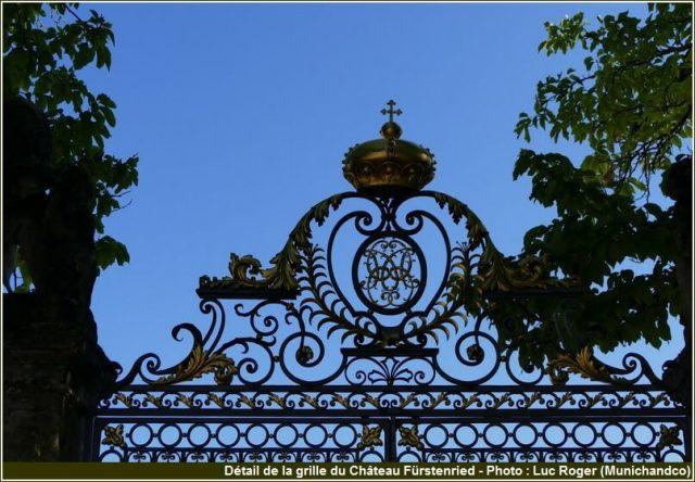 Détail de la grille du château Furstenried