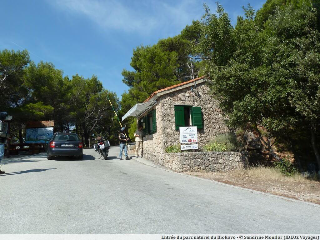 Entrée du parc naturel de Biokovo en Dalmatie centrale