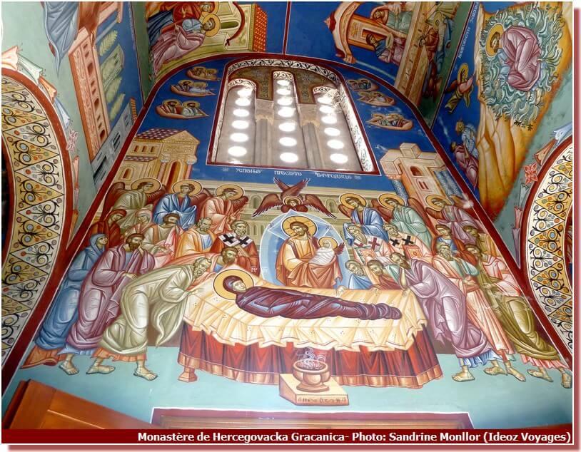 Fresque du Monastère Hercegovacka Gracanica Trebinje