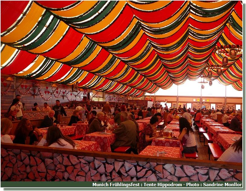 Fruhlingsfest de Munich Intérieur de la tente Hippodrom