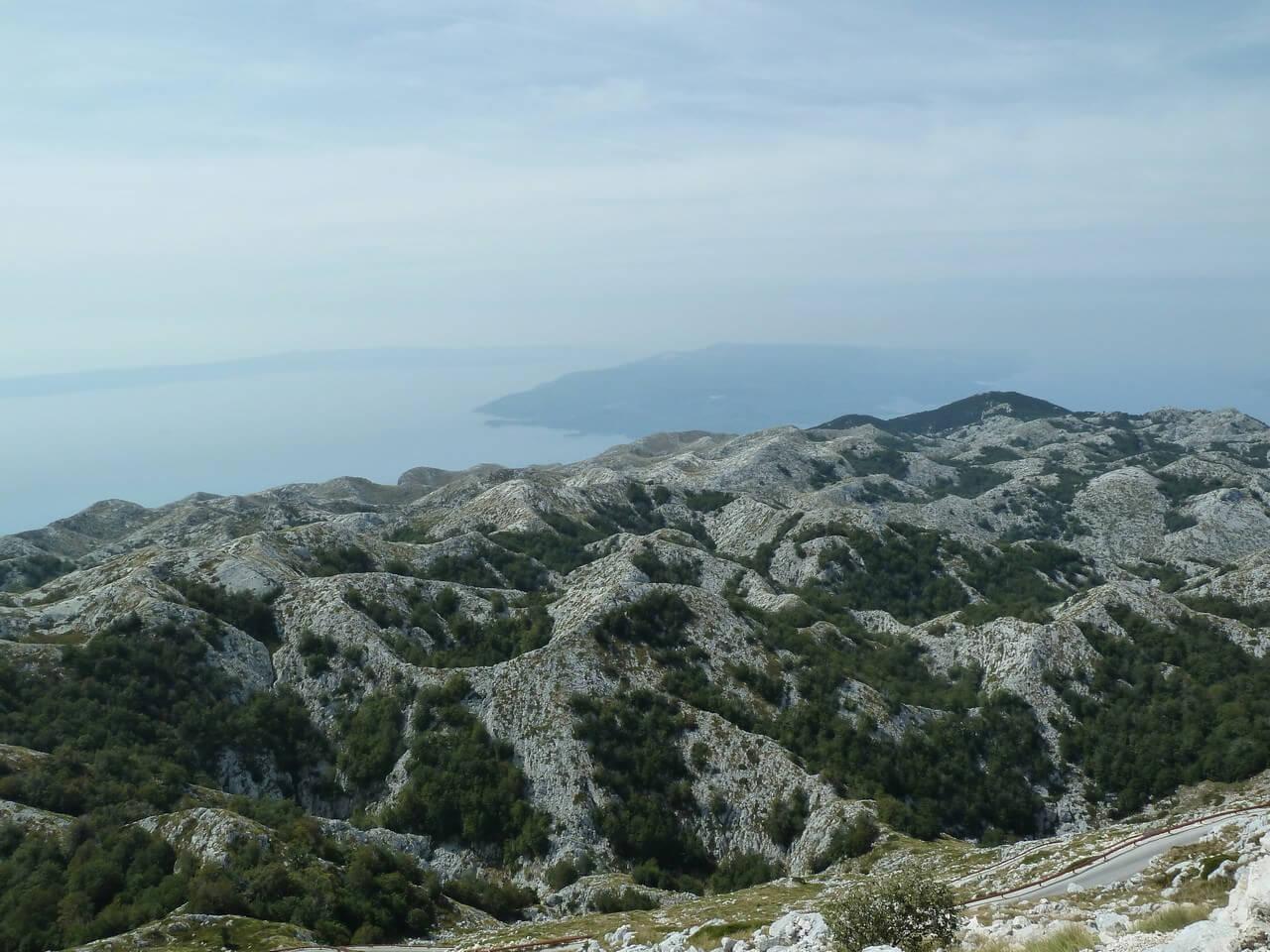 Massif Biokovo depuis Sveti Jure