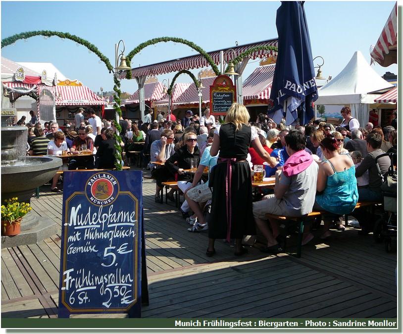 Munich Fruhlingsfest Biergarten