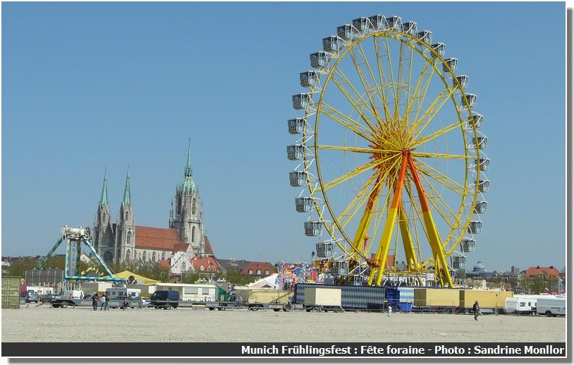 Munich Fruhlingsfest fete foraine vue g