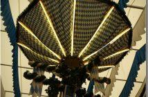 Munich Fruhlingsfest lustre sous la tente Augustiner Brau
