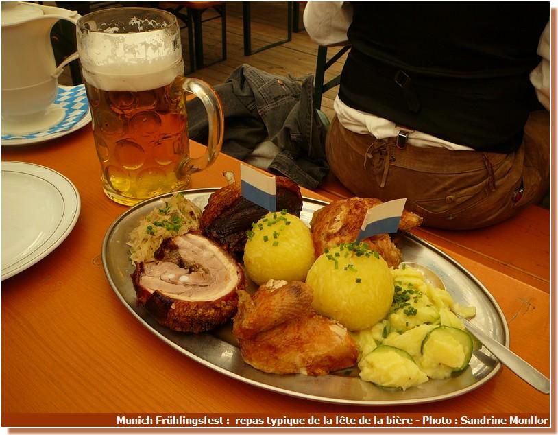 Munich Fruhlingsfest repas traditionnel