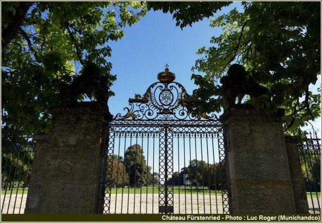 Porte d'entrée du chateau Furstenried