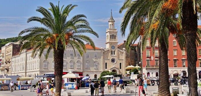 Split vielle ville depuis la riva
