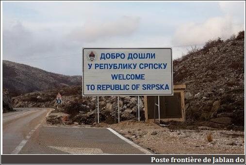 Poste frontière Jablan do entre Montenegro et Bosnie Herzégovine